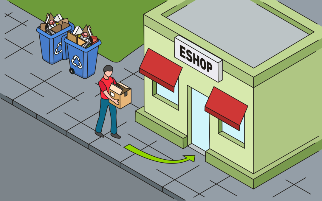 papírové krabice patří do eshopu